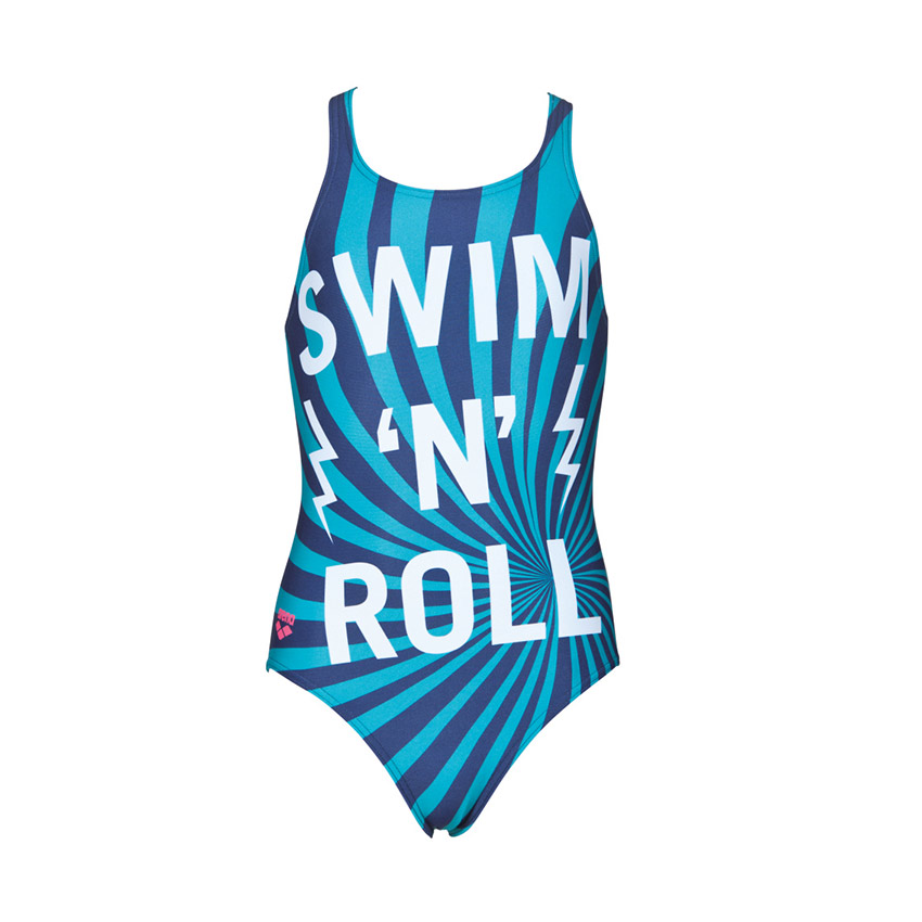 fc57e7bfc73ce Arena Swim&Roll girls swimsuit blue is perfect for regular use