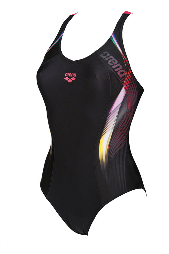 Arena Fluency Black Red Swimsuit