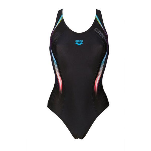 Arena Fluency Black Blue Swimsuit
