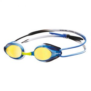 Arena Blue Black Blue Tracks Mirror Racing Goggles