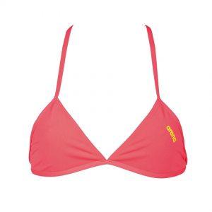 Fluo Red Arena Triangle Feel Bikini Top