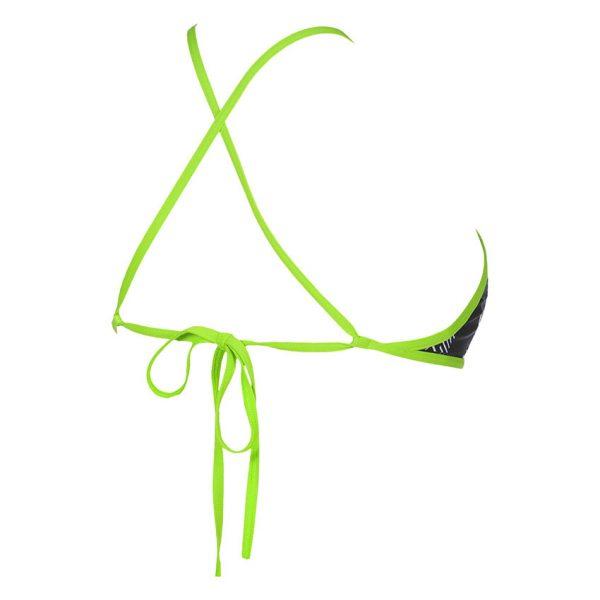 Black Green Arena Triangle Feel Bikini Top