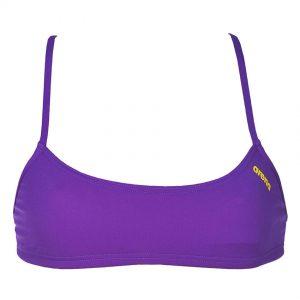Purple Arena Bandeau Bikini Top