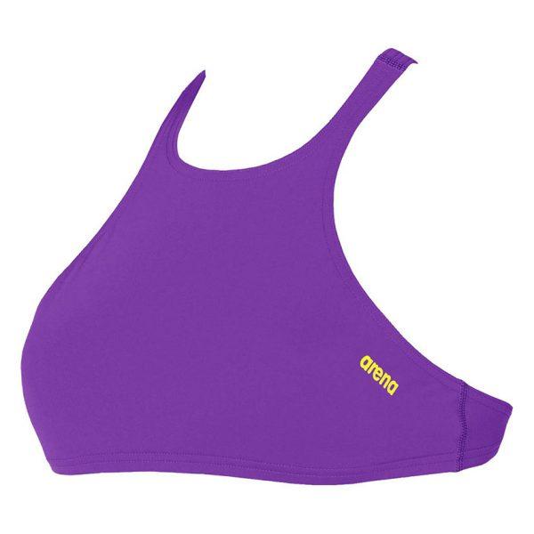 Purple Arena Crop Bikini Top