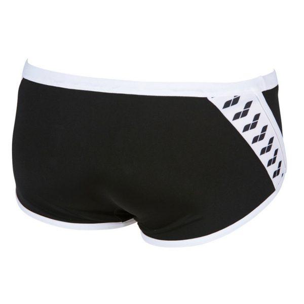 Arena Black Team Stripe Low Waist Shorts
