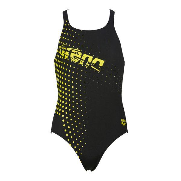 Arena Girls Illusion Black Swimsuit
