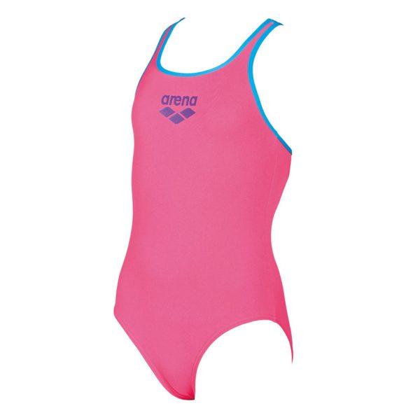 Arena BigLogo Girls Pink Swimsuit