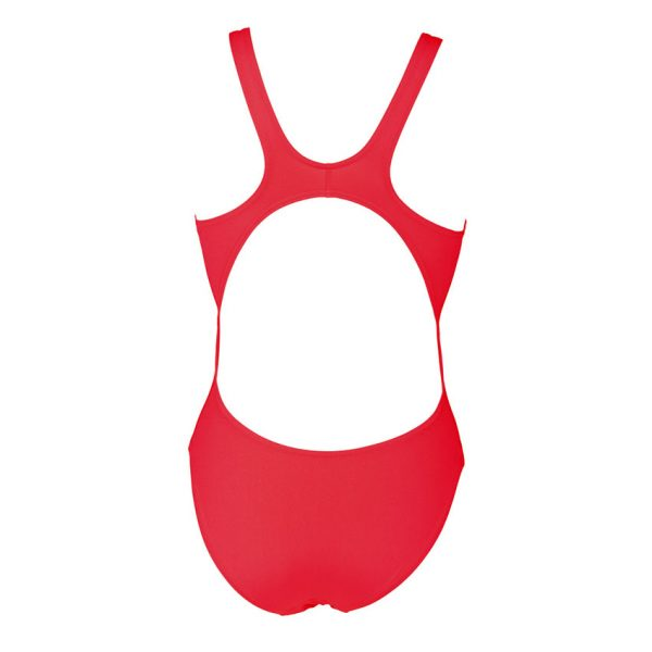 Arena 'Solid Tech' High Leg Fluo Red Swimsuit