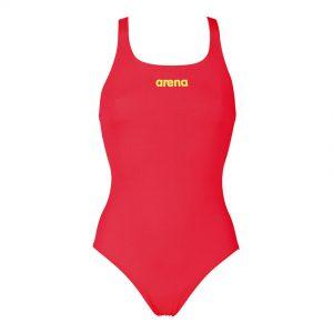 Arena 'Solid Pro' Medium Leg Fluo Red Swimsuit