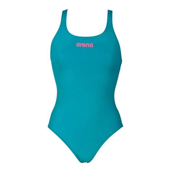 Arena 'Solid Pro' Medium Leg Green Swimsuit