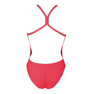 Arena 'Solid Light Tech' Fluo Red High Leg Swimsuit