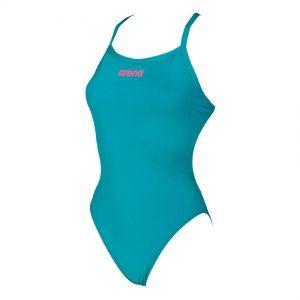 Arena 'Solid Light Tech' High Leg Green Swimsuit