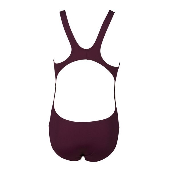 Arena Solid Swim Tech Girls Red Wine Swimsuit