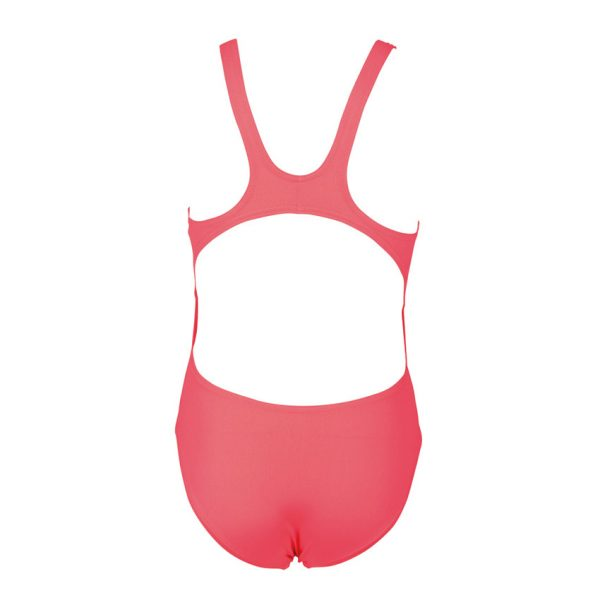 Arena Solid Swim Tech Girls Fluo Red Swimsuit