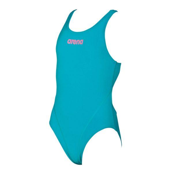 Arena Solid Swim Tech Girls Green Swimsuit