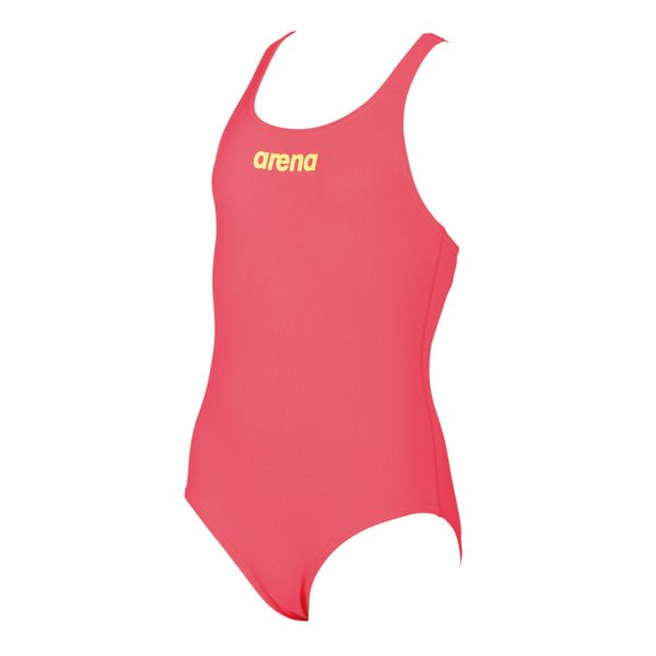 Arena Solid Pro Girls Fluo Red Swimsuit