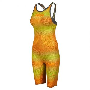 Lime Orange Arena Carbon Air 2 Open Back Suit