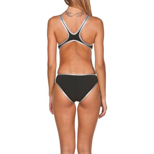 Biglogo One Arena Black Silver Swimsuit