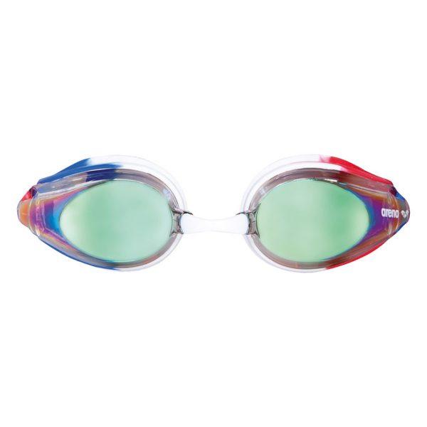 Red White Blue Arena Tracks JUNIOR Mirrored Goggles