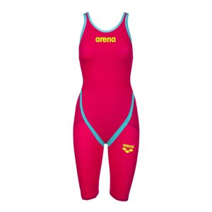 Red Turquoise Arena Carbon Flex VX Open Back Suit