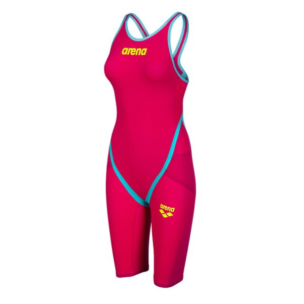 Red Turquoise Arena Carbon Flex VX Open Back Suit