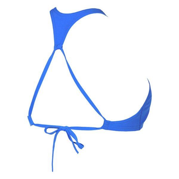 Blue Arena Crop Bikini Top