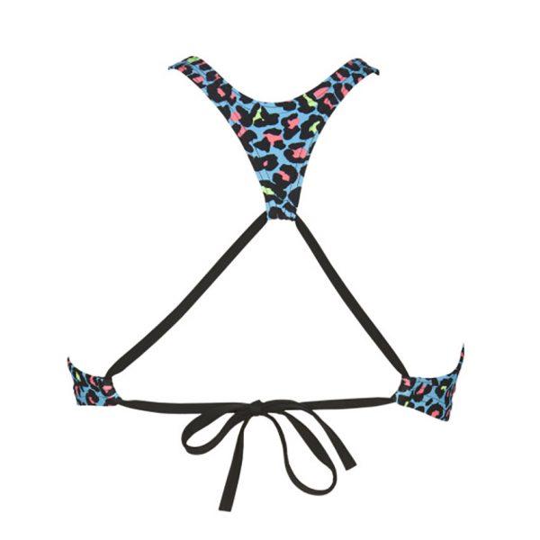 Turquoise Multi Arena Crop Bikini Top