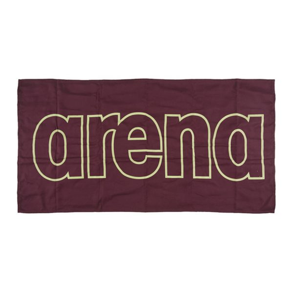 Arena Microfibre Gym Towel - Red Wine