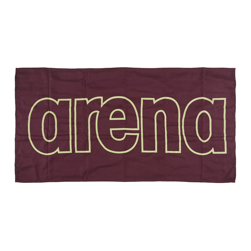Arena Microfibre Gym Towel – Red Wine