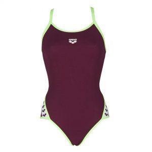 Red Wine Arena Team Stripe Swimsuit