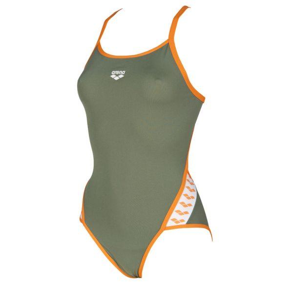 Green Arena Team Stripe Swimsuit
