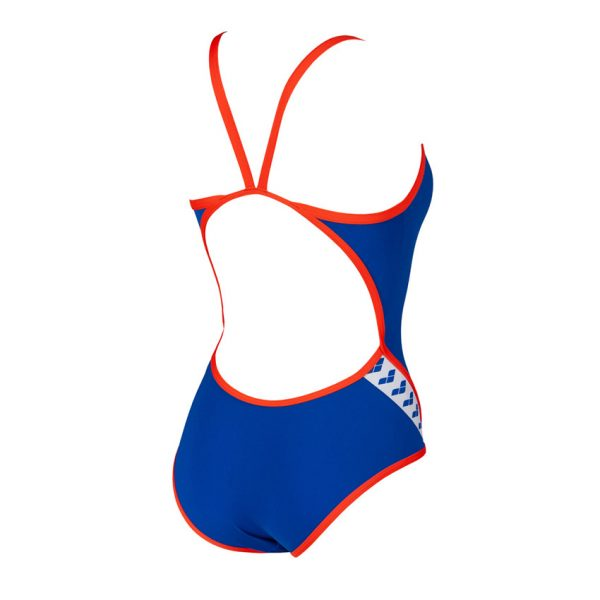 Neon Blue Arena Team Stripe Swimsuit
