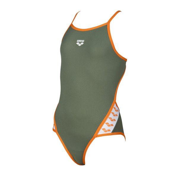 Arena Junior Team Stripe Swimsuit - Green