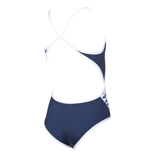 Arena Junior Team Stripe Swimsuit - Navy