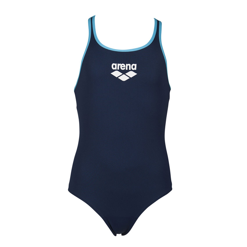 2c59cc8330414 Arena BigLogo girls navy blue swimsuit is perfect for regular use