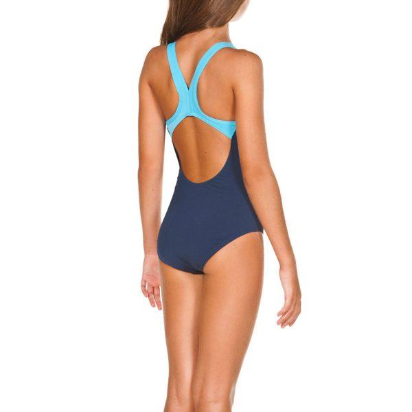 Arena BigLogo Girls Navy Blue Swimsuit