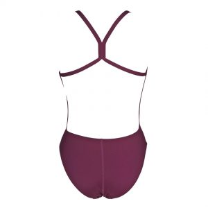 Arena Solid Light Tech Red Wine High Leg Swimsuit