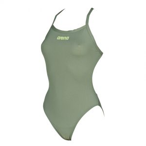 Arena Solid Light Tech Army Green High Leg Swimsuit