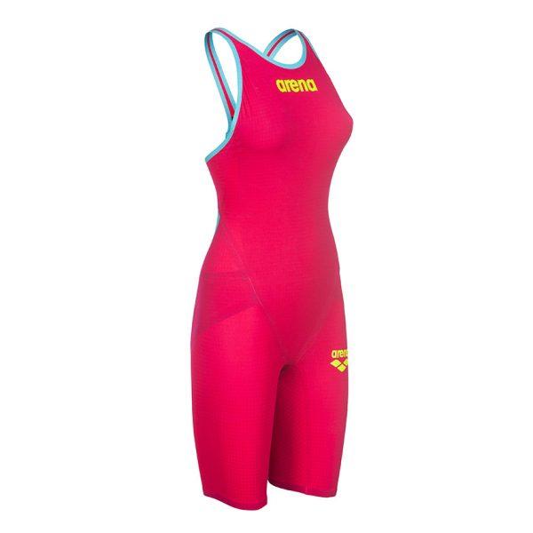 Arena Carbon Flex VX Closed Back Suit Red / Turquoise
