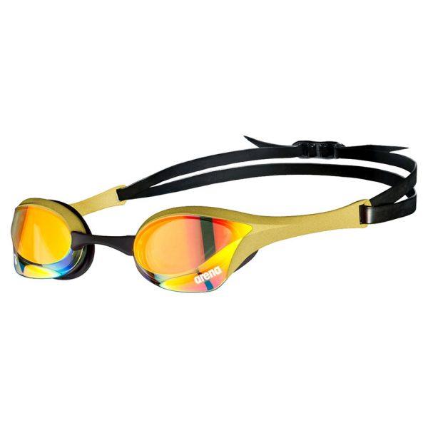 Gold Arena Cobra Ultra Swipe Racing Goggles