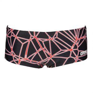 Black Red Arena Carbonics Pro Low Waist Shorts