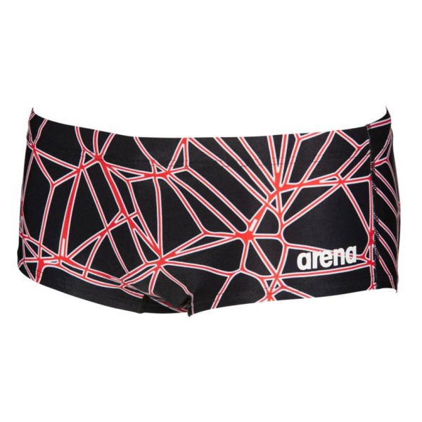 Black Red Arena Carbonics Pro Low Waist Shorts