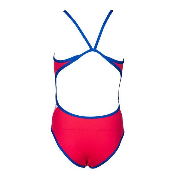 Arena Junior Team Stripe Swimsuit - Pink