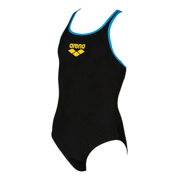 Arena BigLogo Girls Black Swimsuit