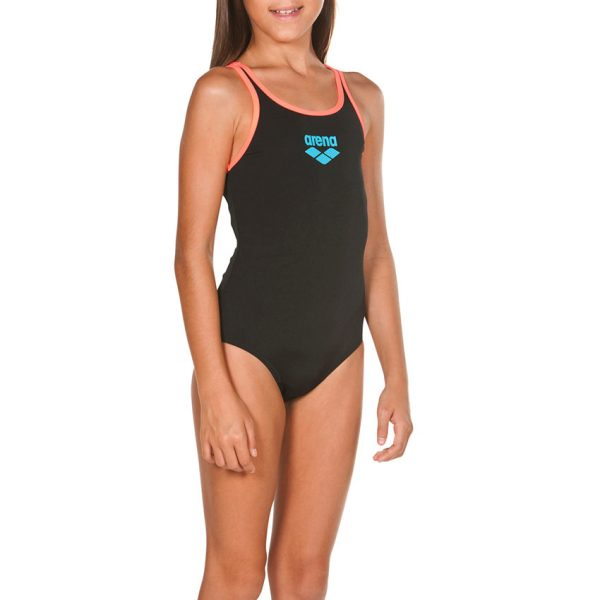 Arena BigLogo Girls Black / Pink Swimsuit