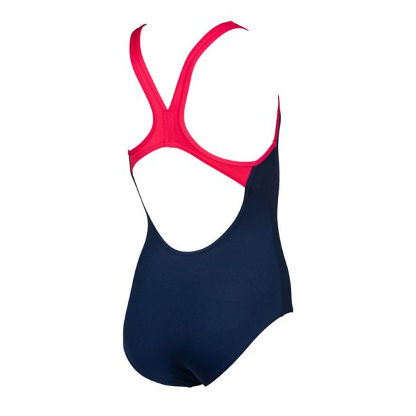 Arena BigLogo Girls Navy / Pink Swimsuit