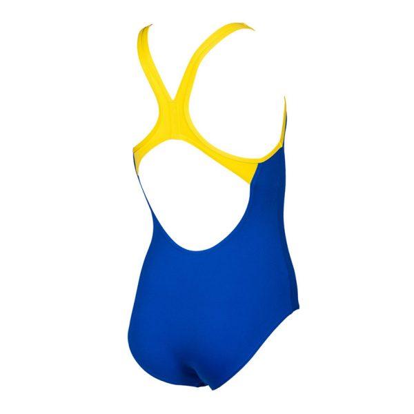 Arena BigLogo Girls Neon Blue Swimsuit