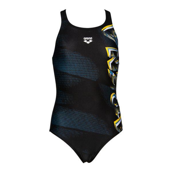 Black Arena Girls Draft Swimsuit