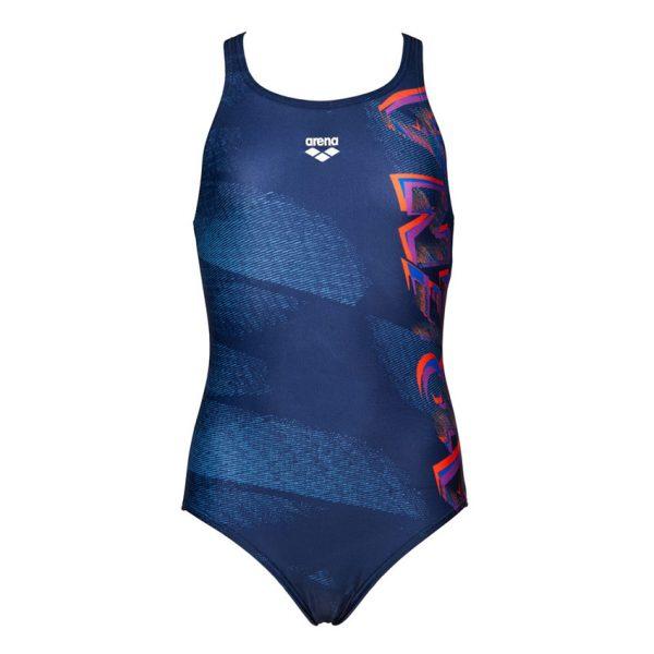 Blue Arena Girls Draft Swimsuit