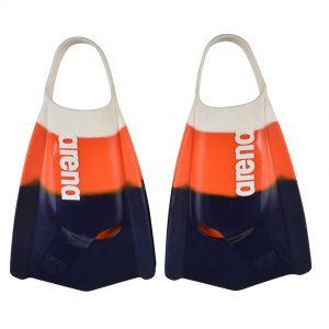 Arena Powerfin Pro White Orange Blue